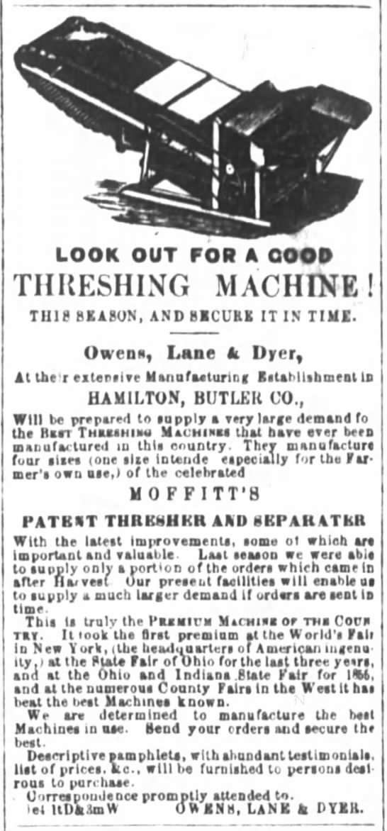 Look Out for a Good Threshing Machine -