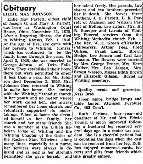The Atchison Daily Globe (Atchison, Kansas) Feb. 7, 1946 page 14 -