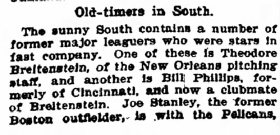 Article in The Washington Post 31 May 1905 page 7-Old Timers in  South - in South. Th« sunny South contains a number of...