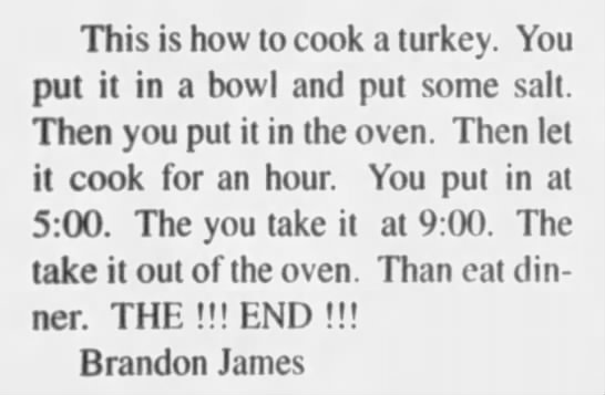 Brandon James - How to Cook a Turkey -