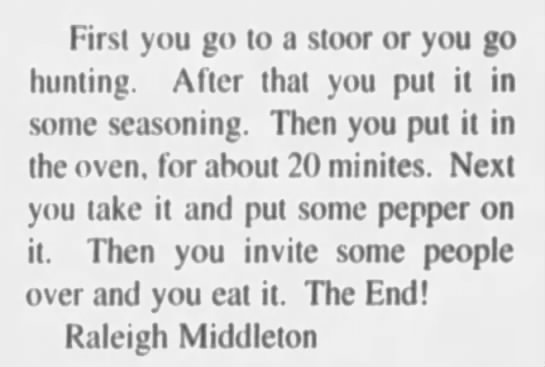 Raleigh Middleton - How to Cook a Turkey -