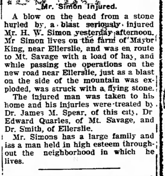 Explosion Injury19051018 - A blow on hurled by, a head {rom a stone blast...