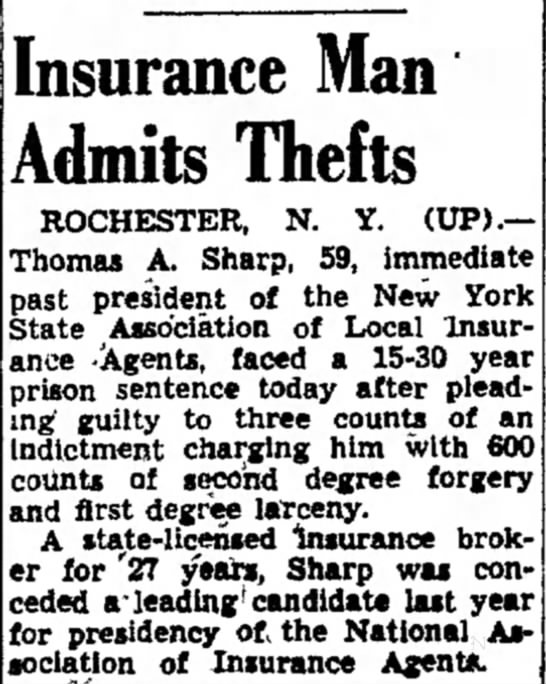 Sharp Admits Thefts