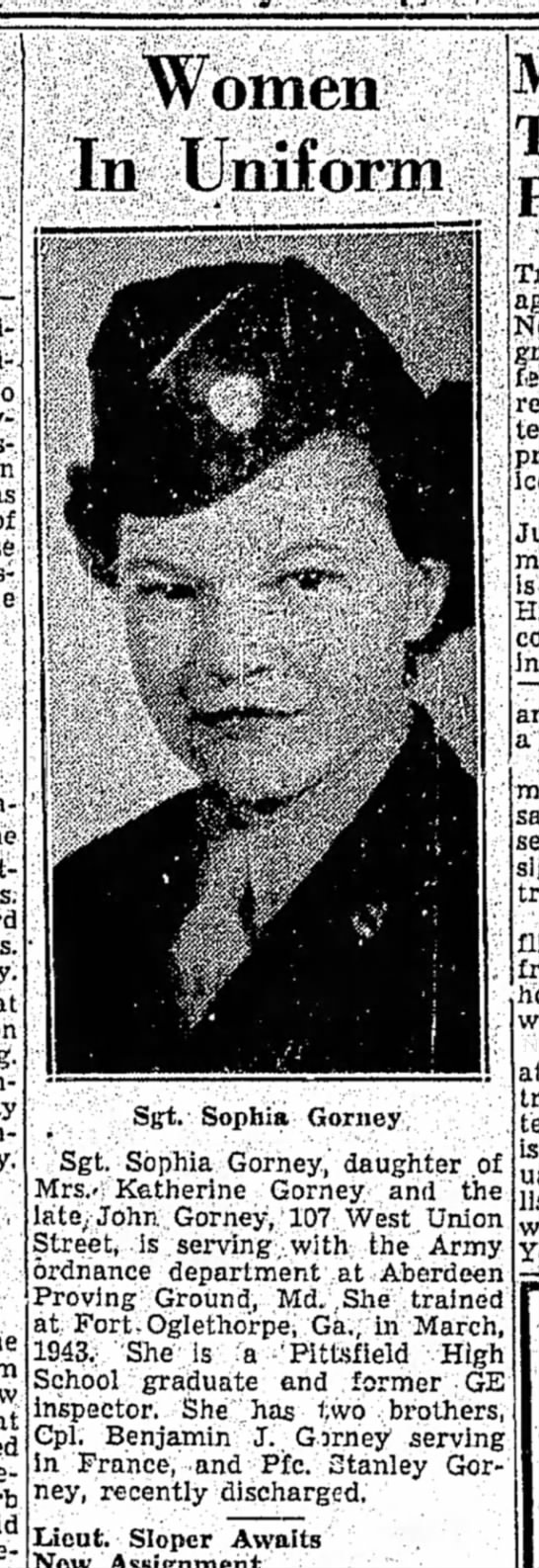 The Berkshire Eagle(Pittsfield, Massachusetts)18 July 1945Page 16 -