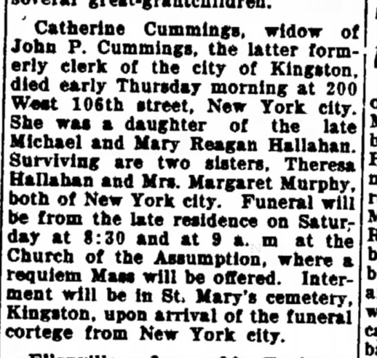 Cath Hallahan Cummings death -