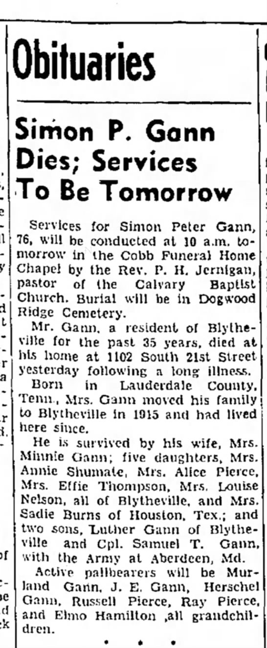 The Courier News (Blytheville, Arkansas), 18 Jan 1951, Page 23, Col. 3. -