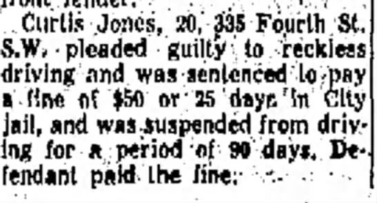 DP 1957 11-24 CL Jones fined - .-. , Jones, 20, 335 Fourth St. · pleaded...