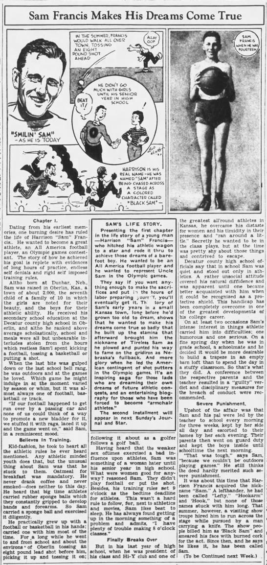 1937 Sam Francis part 1 of 4 -