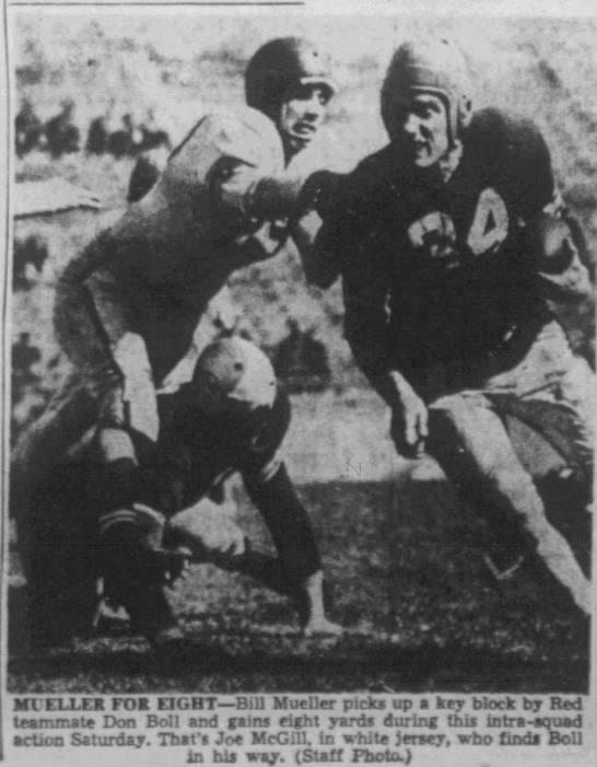 1950 spring scrimmage photo -