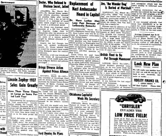 The sunday news and tribune (jefferson city, MO) 21 march 1937 page 4 -