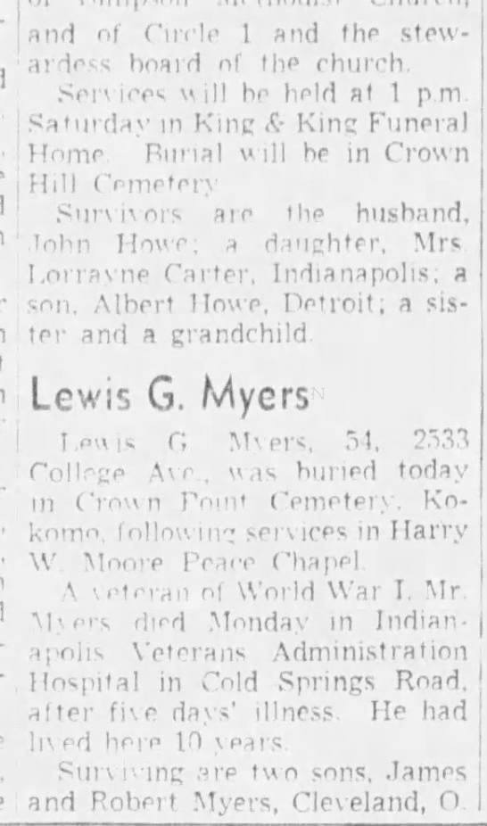 Lewis G  Myers - Newspapers com