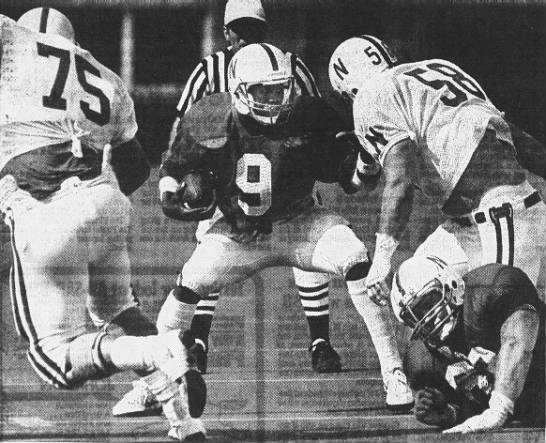 1986 Nebraska football spring game photo -
