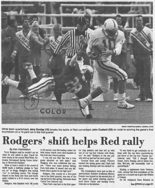 1988 Nebraska spring game LJS1 -