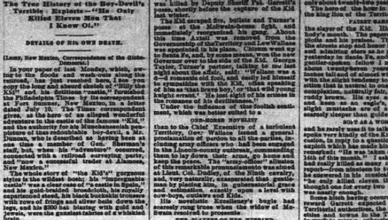 Courie-Journal, Louisville, 8/7/1881 -