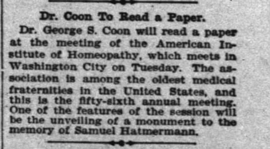 Dr. George S. Coon -