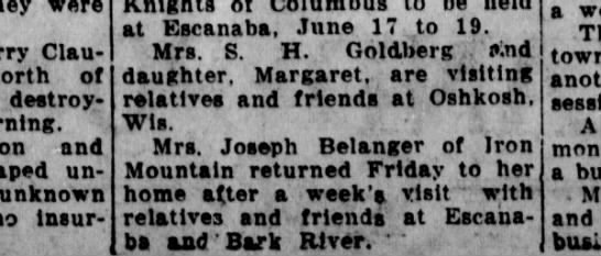The other Joseph Belanger of Iron Mountain -