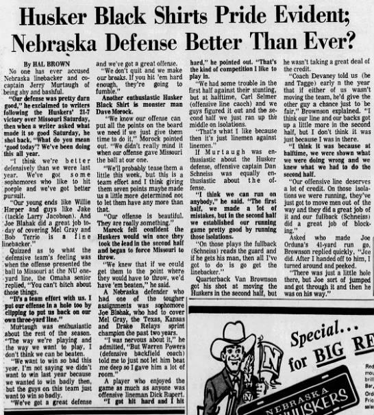 1970 Missouri-Nebraska football LJS6 -
