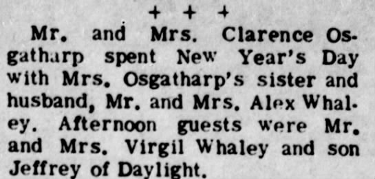 Clarence Osgatharp New Year's celebration 1971 -