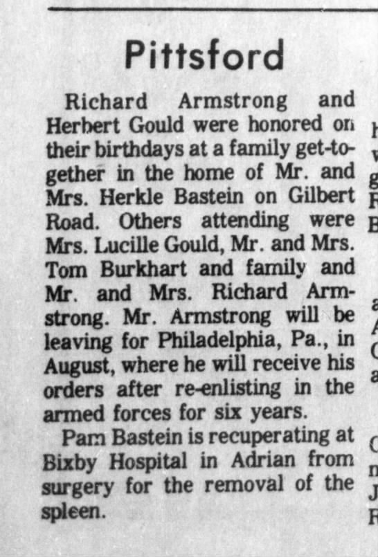 Armstrong-Gould-birthdays Hillsdale Daily News 5 Aug 1971 pg 4 -