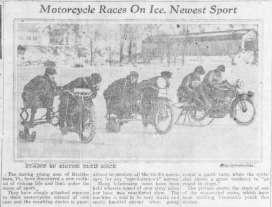 Motorcycle Races on Ice -