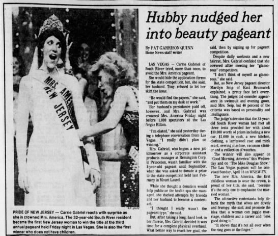 Hubby nudged her into beauty pageant -