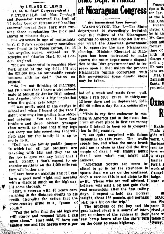 Press-Courier (Oxnard, California) 7 March 1928, page 1 -