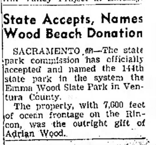State Accepts, Names Wood Beach Donation -