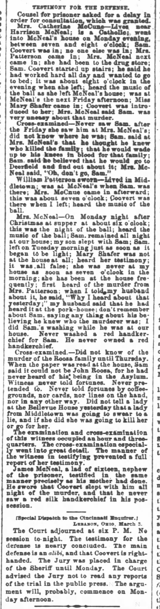 Cincinnati Enquirer 5 March 1866 p2 part 3 -