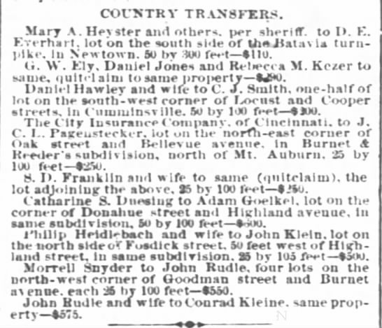 Morrell SnyderCountry Transfers -