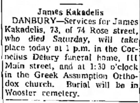 James Kakadelis Obituary -