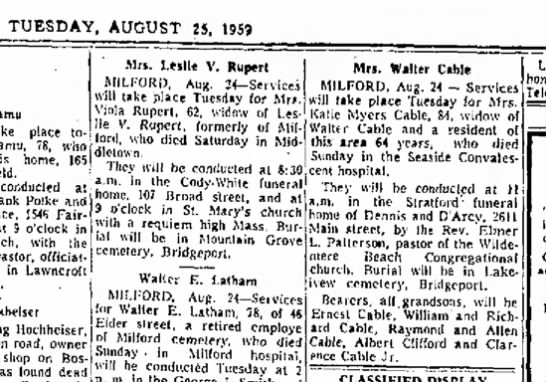 Great grandma Katie Myers Cable obituary -