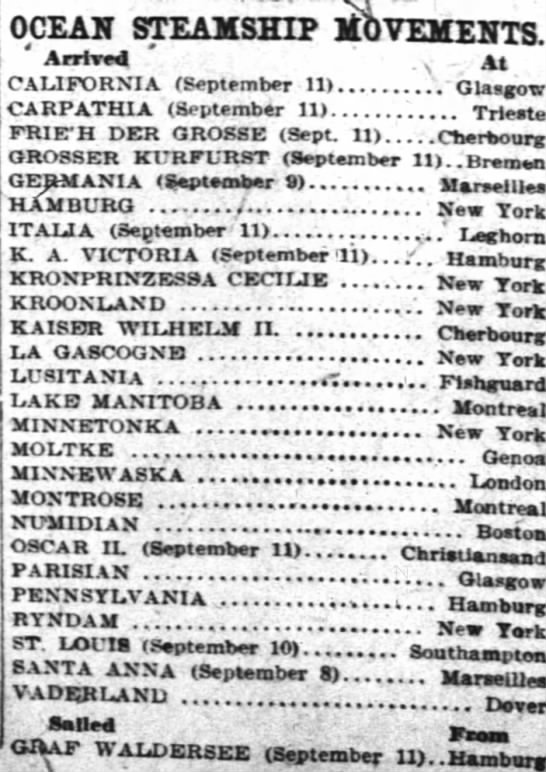 The Cincinnati Enquirer (Cincinnati, Ohio) September 13, 1910, pg. 6; Newspapers.com  -