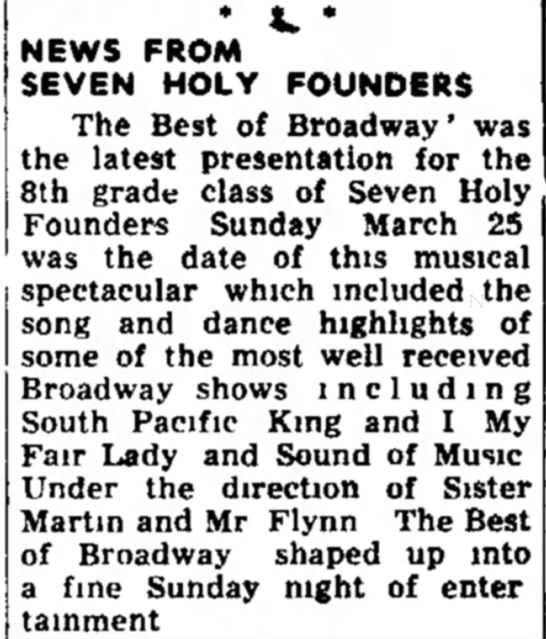 - • *» * NEWS FROM SEVEN HOLY FOUNDERS The Best...