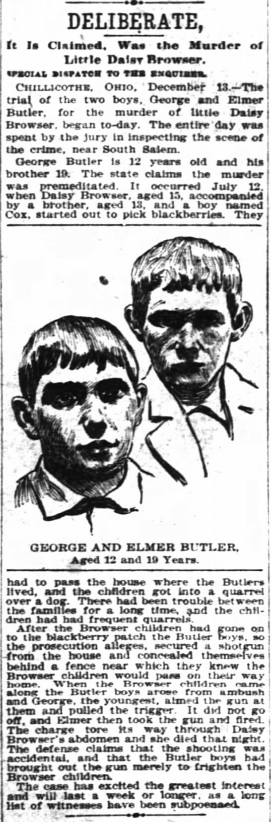 Murder in South Salem, part 2, Dec 14, 1898 -