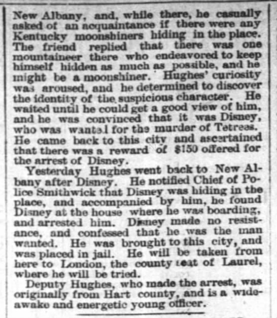 Thomas Disney arrested for murder 5 march 1887 page 2 -