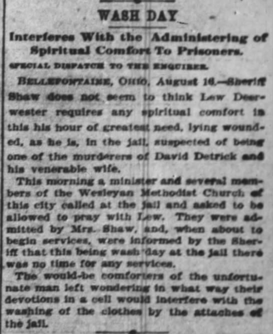 ROBBERY: WASH DAY The Cincinnati Enquirer 17 Aug 1897 3 -