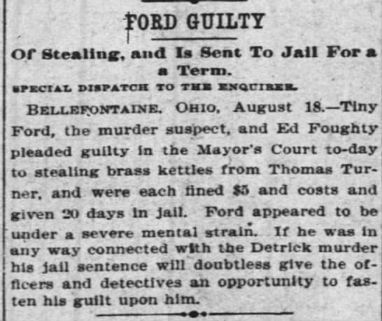 FORD GUILTY The Cincinnati Enquirer 19 Aug 1897 4 -