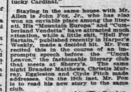 Louisville Courier-Journal, 1/12/1895 -