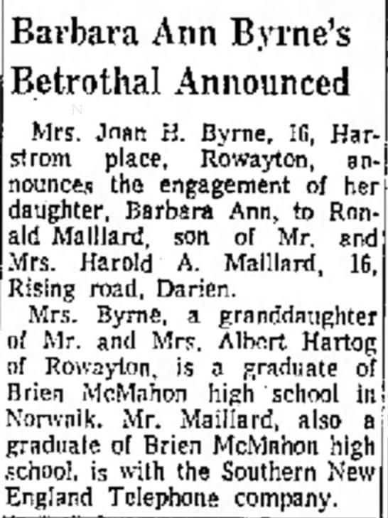 Ronald Maillard's engagement -