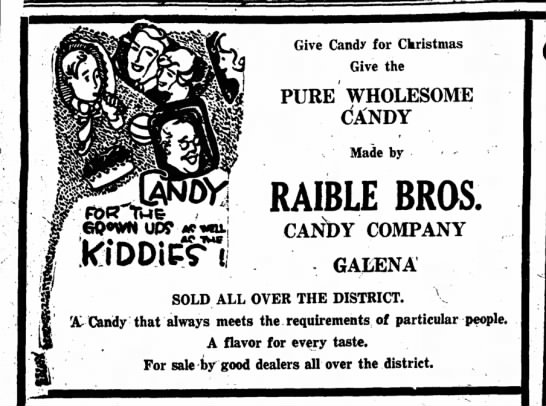 Raible Bros. Candy Com.  -