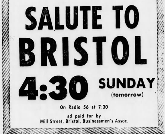 Mill Street Bristol Businessmen's Association 12/11/1965 -