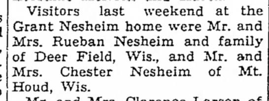 Visitors to Grant Nesheim in Iowa -