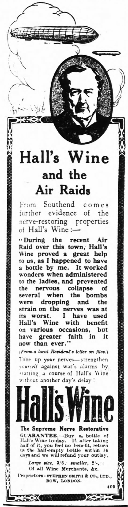 - Hall's Wine and the Air Raids From Southend...