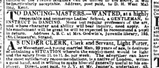 London Times June 21 1824 - - M (particularly acceptable. Address, post...