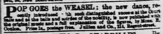 Pop Goes the Weasel (1852) -