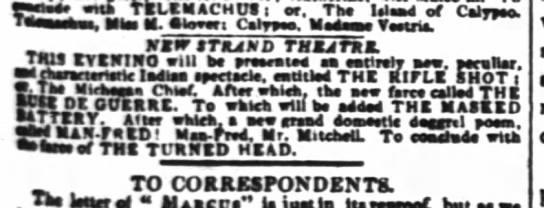 New Strand Theatre, 17 Jan 1835, London Times -