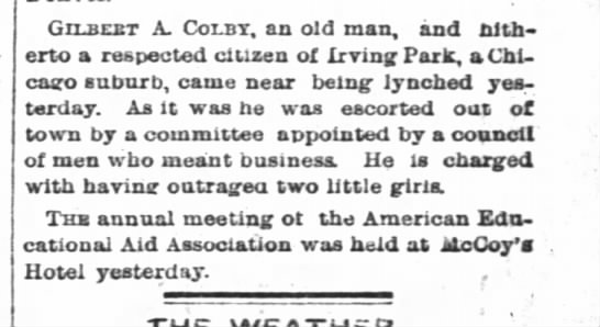 11june1886_colby escorted out of town -