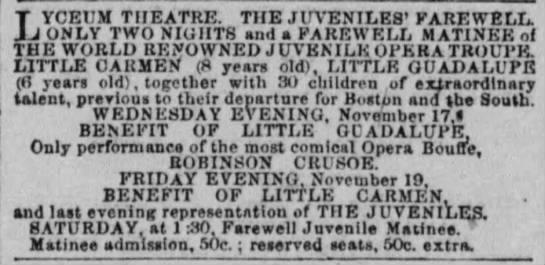Opera of Robinson Crusoe, for which Jose F. Godoy translated the libretto. -