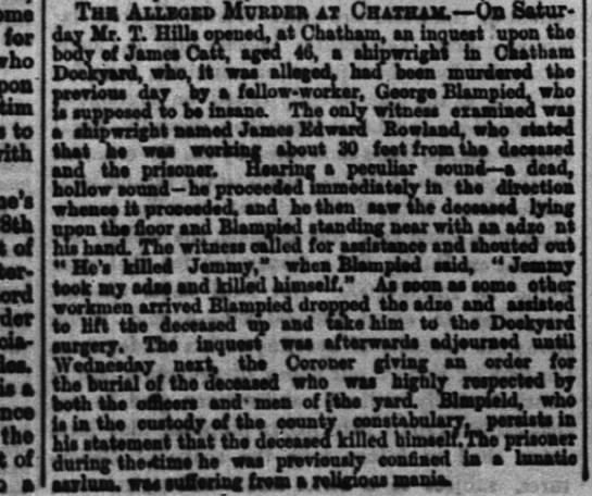 Initial Statement on April 19th 1875 on Blampied -