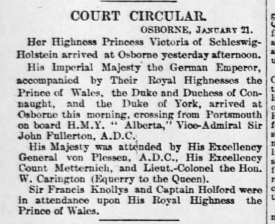 Queen Victoria's family gathers -